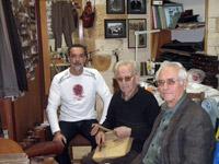 With my teacher Telemachus Ksyrafakis and Georgios Katsigarakis (shoemaker) from Kandano